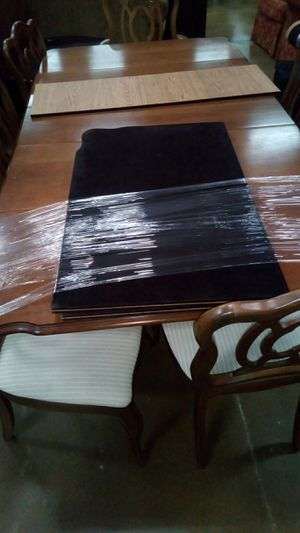 Dining tables, 6 chairs and 3 table protectors, used for sale  Siloam Springs, AR