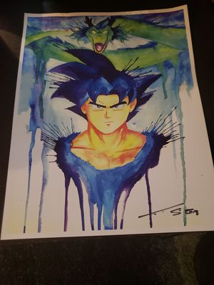Goku Abstract Art for Sale in Tacoma, WA