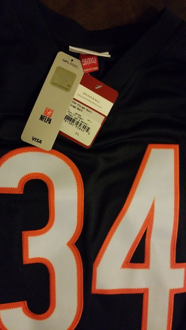 premium selection 25740 a3a42 1985 Walter Payton Mitchell & Ness NFL Throwback Jersey for Sale in  Modesto, CA - OfferUp