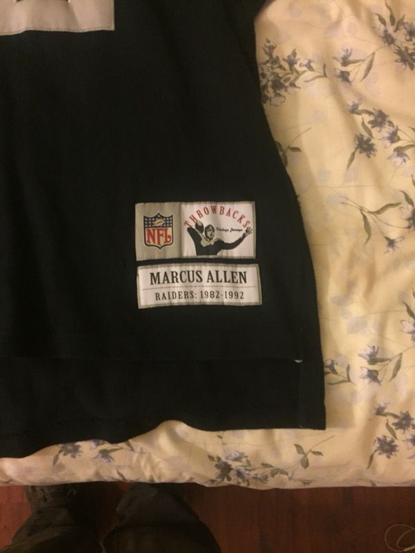 marcus allen throwback jersey