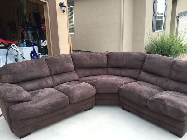3 Piece Brown Micro Suade Sectional Furniture In Colorado Springs Co Offerup