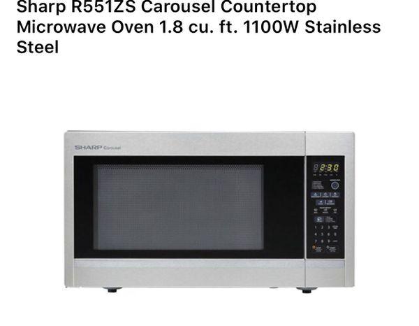 Sharp Microwave 1 8 Cu 1100 Watts