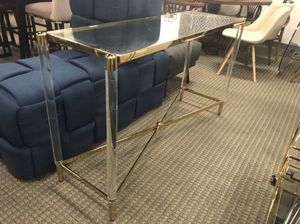 Acrylic and gold console table for Sale in Lincolnia, VA