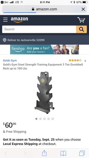 GOLDS GYM 3 Tier Steel Dumbbell Rack NEW IN BOX for Sale in Orlando, FL