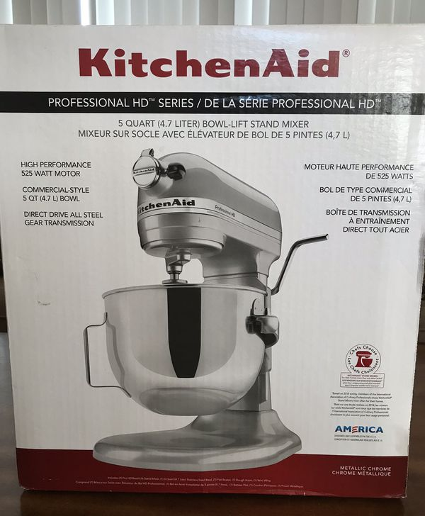 New In Box Kitchenaid Professional Hd 525 Watt Motor 5