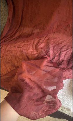 6 sheer burgundy curtain panels Thumbnail