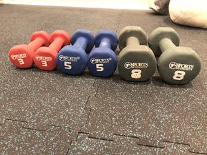 Dumbbells (3, 5 and 8 lb) for Sale in Brinklow, MD