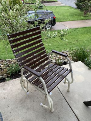 Photo Pick up today vintage glider patio chair