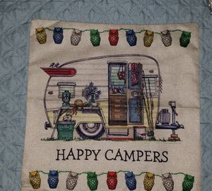 Shasta camper vintage trailer pillow cover for Sale in Palm Harbor, FL