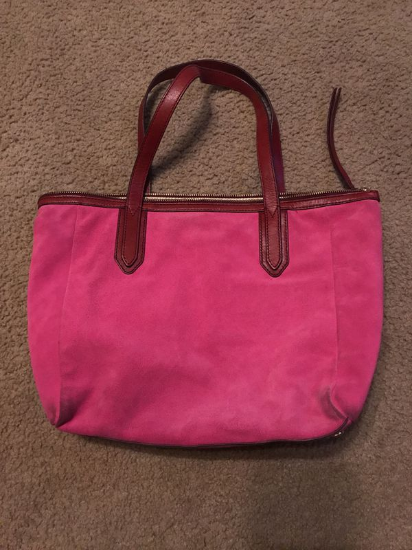 pink suede fossil purse for sale in san marcos tx offerup