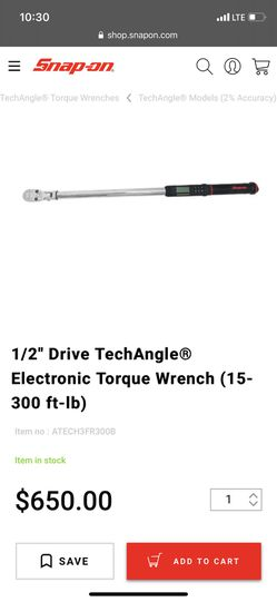 Snapon 1/2 tech torque wrench Thumbnail