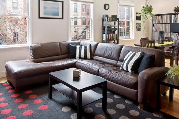 Stupendous Macys Brown Leather 2 Piece Sectional Sofa With Sleeper For Sale In Walnut Creek Ca Offerup Caraccident5 Cool Chair Designs And Ideas Caraccident5Info