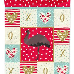 Caroline's Treasures CK5349CHF Emu Love Flag Canvas House Size, Large, multicolor Thumbnail