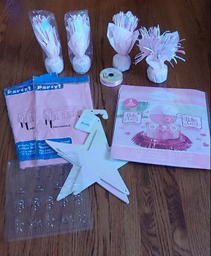 Photo Baby Girl. Baby Shower Items Lot