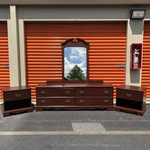 Lowboy Dresser and Nightstands for Sale in Woodbridge, VA