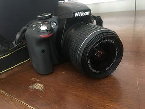 Nikon d3300 body and 2 lenses DX VR 18-55 and DX VR 55-200 for Sale in Ashburn, VA