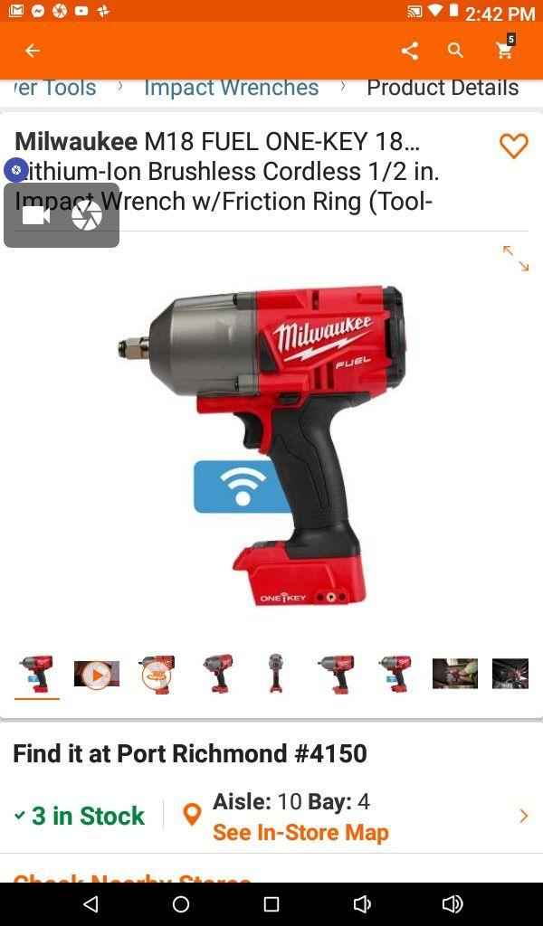 Milwaukee One Key 1 2 Inch Impact Driver Model Number 2863 20 S Top Of The Line Regularly 300