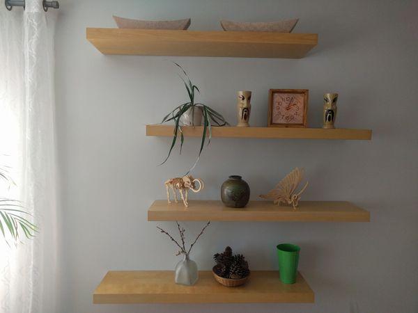 new concept 0b021 49493 Ikea LACK wall shelf, birch effect, 8 shelfs for Sale in Willow Springs, IL  - OfferUp