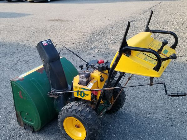Snow Thrower 10 HP Yard Man Commercial Contractors NEGOTIABLE for Sale in  Livingston, NJ - OfferUp