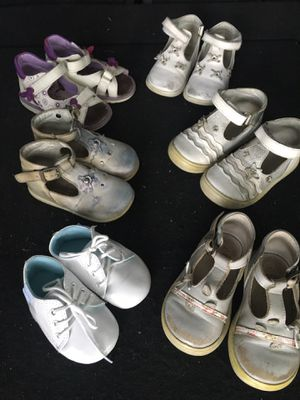 6 pairs of European Baby / Toddler shoes for Sale in Orlando, FL