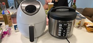 Photo Air fryer and rice cooker