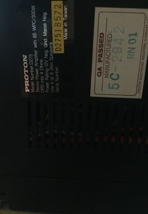 Proton D275 power amplifier for Sale in Portland, OR - OfferUp
