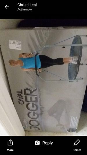 Oval Jogger Work Out Trampoline for Sale in Cedar Creek, TX