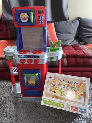 Photo Play kitchen and toy food box