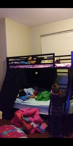 Twin over full queen mattress included for Sale in St. Louis, MO