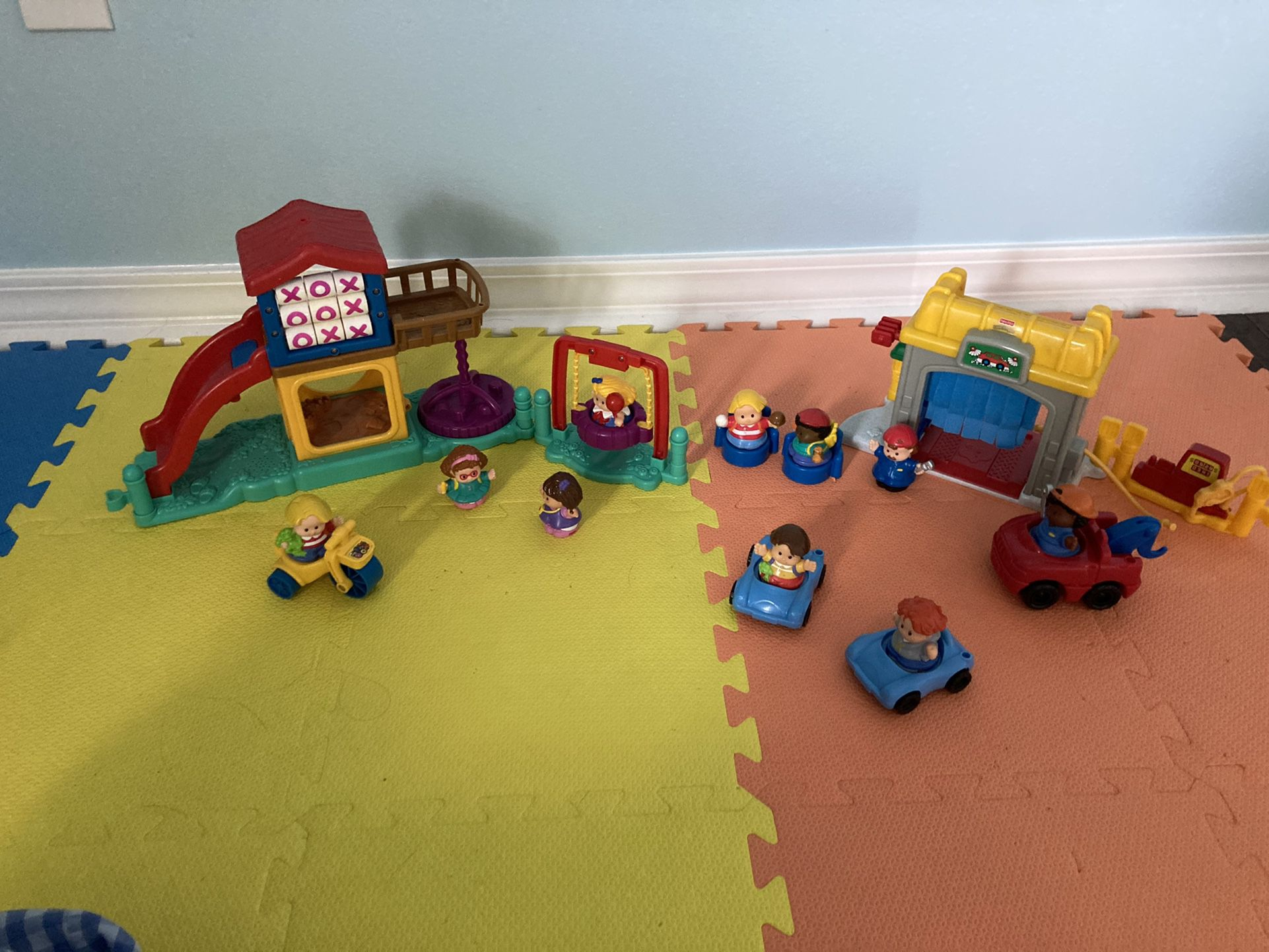 Fisher Price Little People Playground and Service Garage Sets