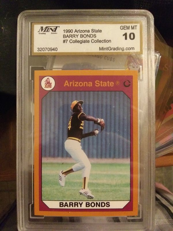 Barry Bonds College Card Graded 10 For Sale In Altoona Pa Offerup