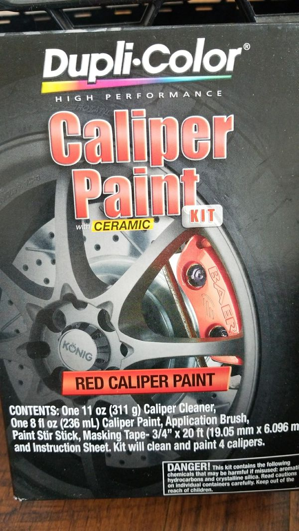 Dupli Color Red Caliper Paint Kit With Ceramic For Sale In Shelton
