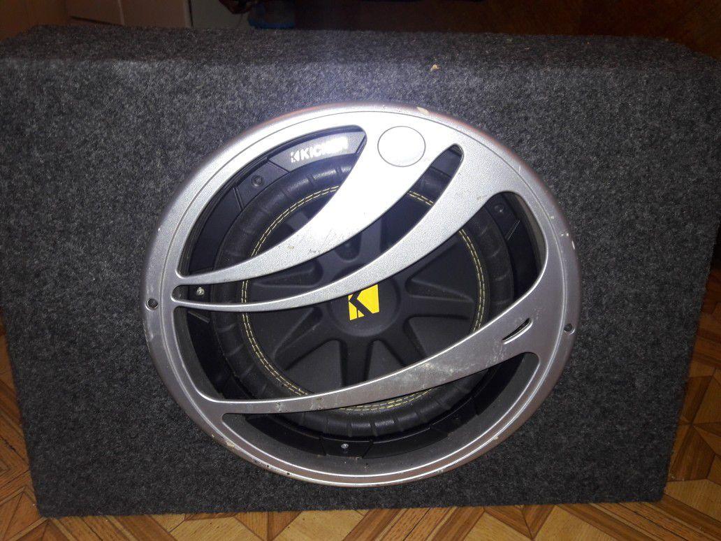 10 inch Kicker speaker and 500 watt Memphis amp and 300watt audiobahn 250 firm for all