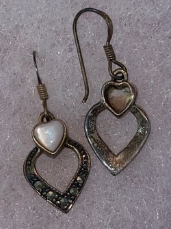 Vintage sterling silver earrings Thumbnail