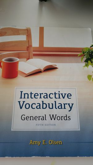 Interactive vocabulary general words 5th edition by Amy E. Olsen for Sale in Detroit, MI