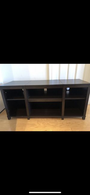 TV STAND MEDIA UNIT WITH ADJUSTABLE SHELF WOODEN for Sale in Washington, DC