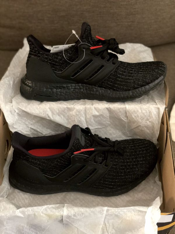 318a66a3daefe Adidas Ultra Boost - Triple Black Active Red for Sale in West ...