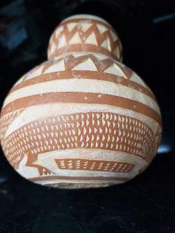 Vintage Carved Gourd Pelican Design Thumbnail
