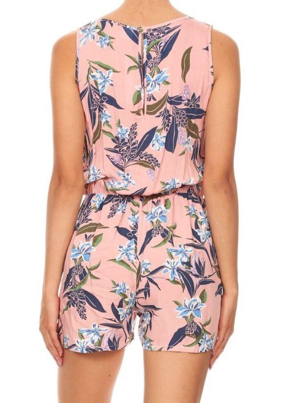 Floral Print Sleeveless Romper New w/o tags Women's Size S, M, L, XL