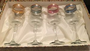 Cristalleria Fumo Italian Wineglass Set for Sale in Pittsburgh, PA