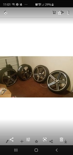 Photo 26 inch machined iroc rims and low profile tires 5 lugs