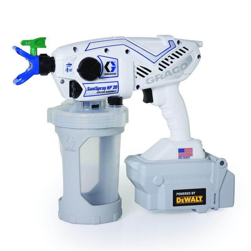Graco SaniSpray HP 20 42 oz. Hand Held Battery Operated Airless Sprayer - Case Of: 1;