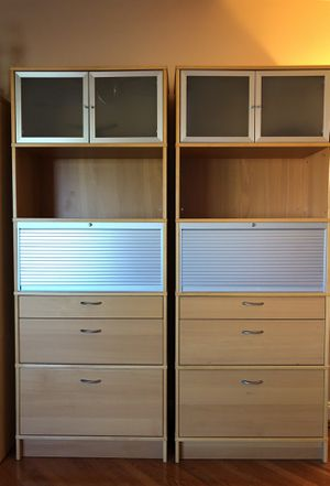 Bookcase with doors and drawers for Sale in Ashburn, VA