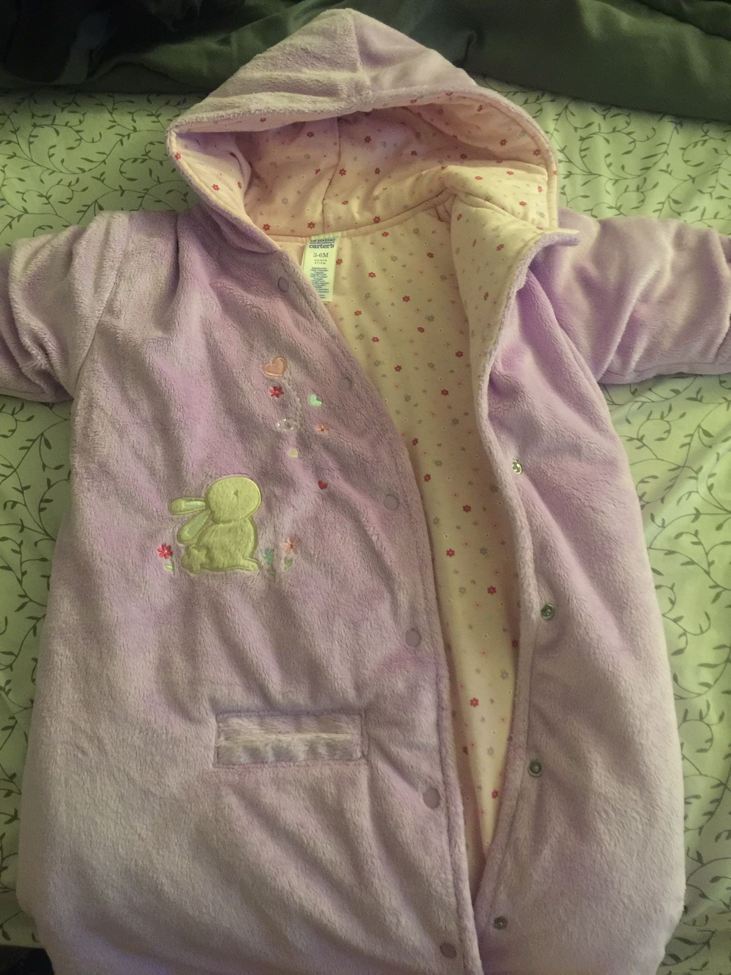 Carseat swaddle winter onsie