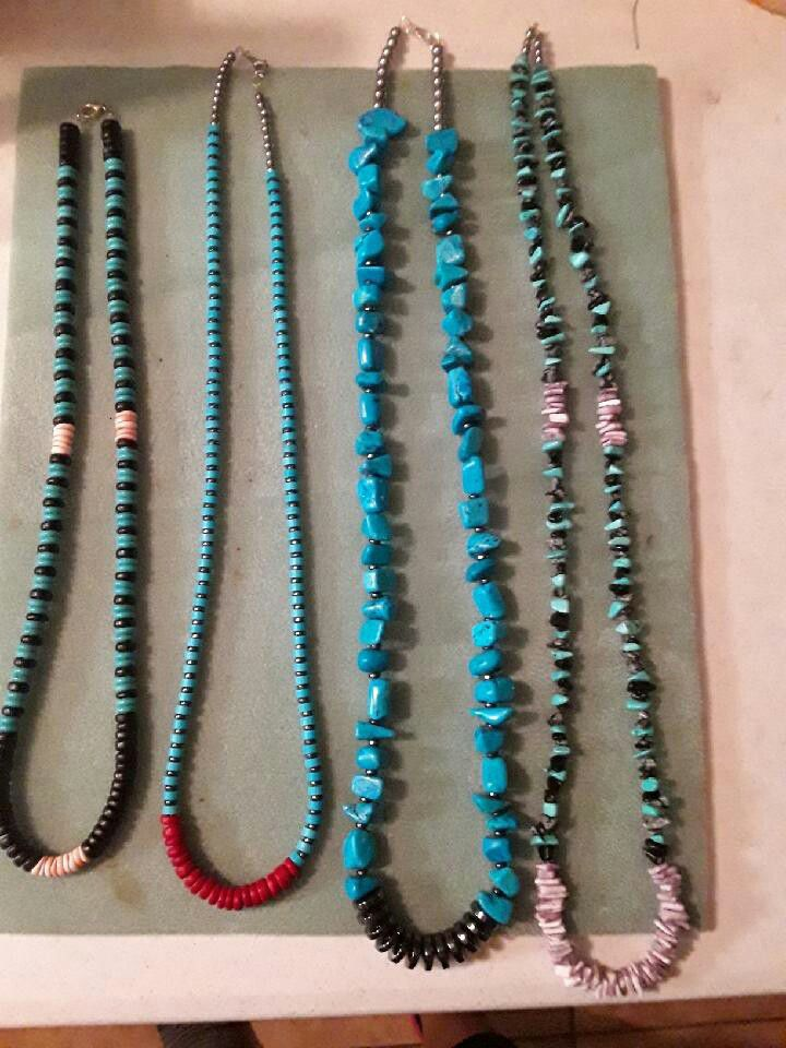 New turquoise necklace message for prices