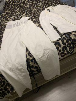 White Jumpsuit w/ Blazer XL Thumbnail