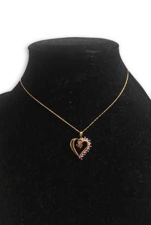 10k rubies necklace for Sale in Alexandria, VA