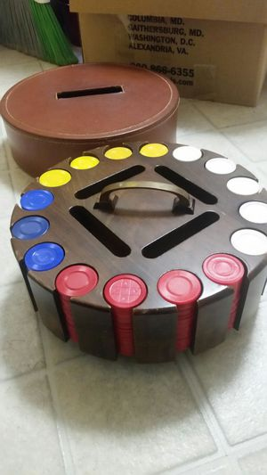 Vintage poker chip carousel for Sale in Montgomery Village, MD