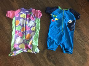 Boy and girl swim rash guard summer poll boy and girl Hanna Anderson 80 and for Sale in Burke, VA