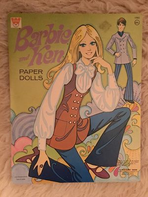 Vintage Whitman 1970 Barbie & Ken Paper Dolls - UNCUT Authorized Edition for Sale in Baltimore, MD